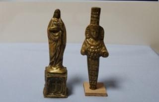 Meryem Ana ve Tanrıça Artemis'in altın heykeli...