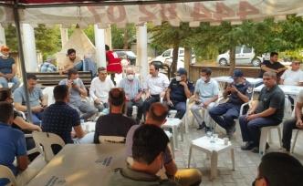Müftü İlhan yangın bölgesinde vatandaşlarla bir araya geldi