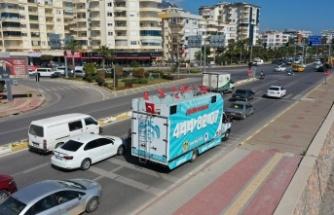 Alanya Belediyesi'nden 23 Nisan'a mobil kutlama