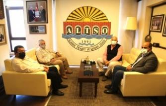 Hal Dernek Başkanlarından Başkan Şahin'e teşekkür ziyareti