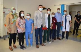 Türkdoğan, sağlıkçıları ziyaret etti