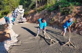 Alanya Belediyesi'nin yol ve asfalt seferberliği