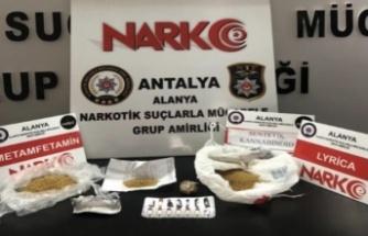 Alanya'da polisten uyuşturucu baskını: 1 gözaltı