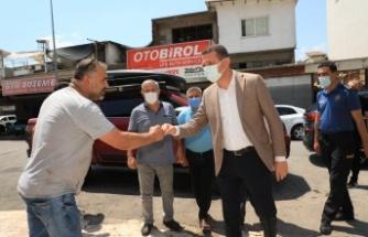 Kaymakam Ürkmezer Alanya Sanayi Sitesi'ni ziyaret etti