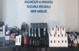 Alanya'da kaçak elektronik sigara baskını