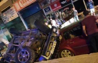 Alanya'da kaza yapan sürücü aracı bırakıp kaza yerinden kaçtı