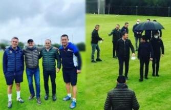 Fenerbahçe- Aytemiz Alanyaspor başkanları maç yaptı