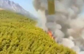 Korkutan orman yangını! Havadan müdahale sürüyor