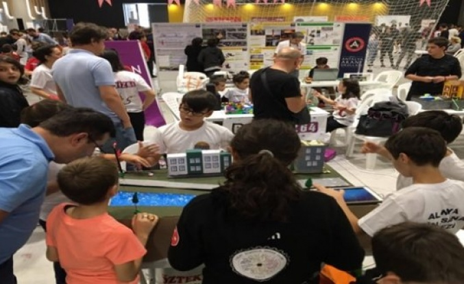 Alanya BiİLSEM  öğrencilerininde katıldığı Robotex festivali başladı