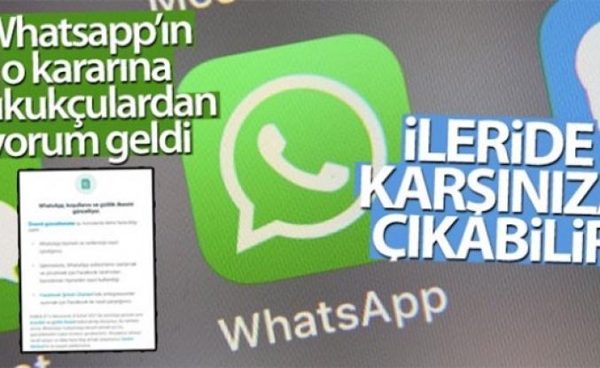Whatsapp'daki konuşmalarınız ileride karşınıza çıkabilir