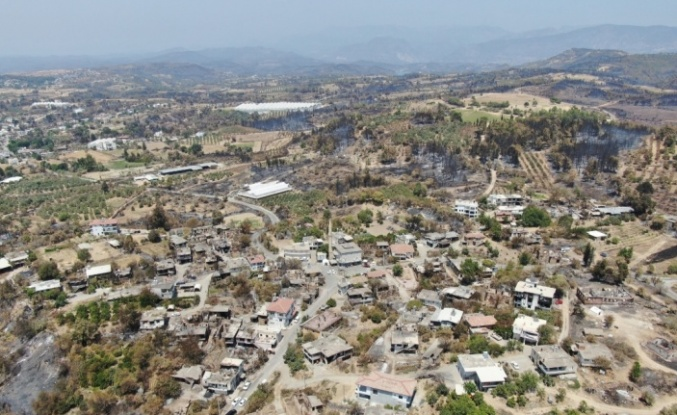 Manavgat 9 günlük yangın sonrası havadan böyle görüntülendi