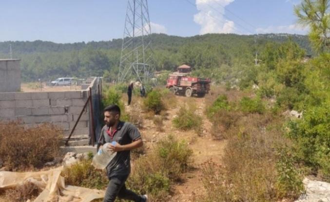 Alanya'daki orman yangını hızlı müdahale ile söndürüldü