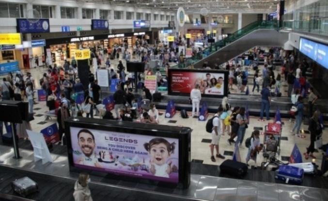 17 günde 1 Milyon turist geldi
