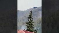 Alanya'da panik dolu anlar: Yangın evlere sıçrıyor