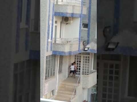 Alanya'daki hırsızlık girişimi saniye saniye görüntülendi
