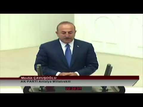 Mevlüt Çavuşoğlu yemin etti!