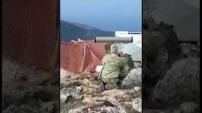 İşte Afrin'de teröristleri havaya uçuran o atış!