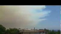 İşte Alanya'daki yangının büyüklüğünü gösteren görüntüler