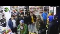 İşte Fenerbahçeli bir grubun marketi soyduğu görüntüler